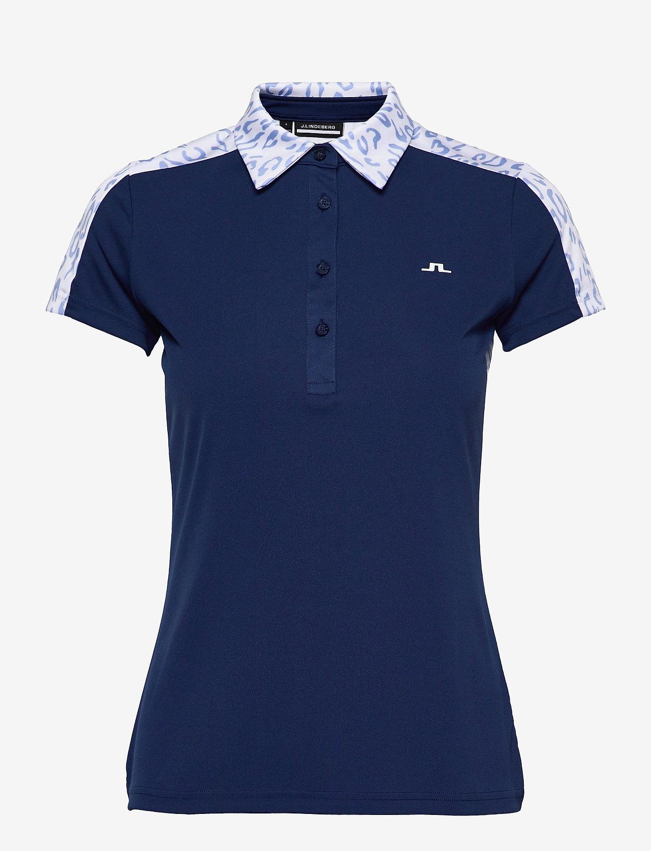 J. Lindeberg Golf - Cara Golf Polo - polos - animal blue white - 1