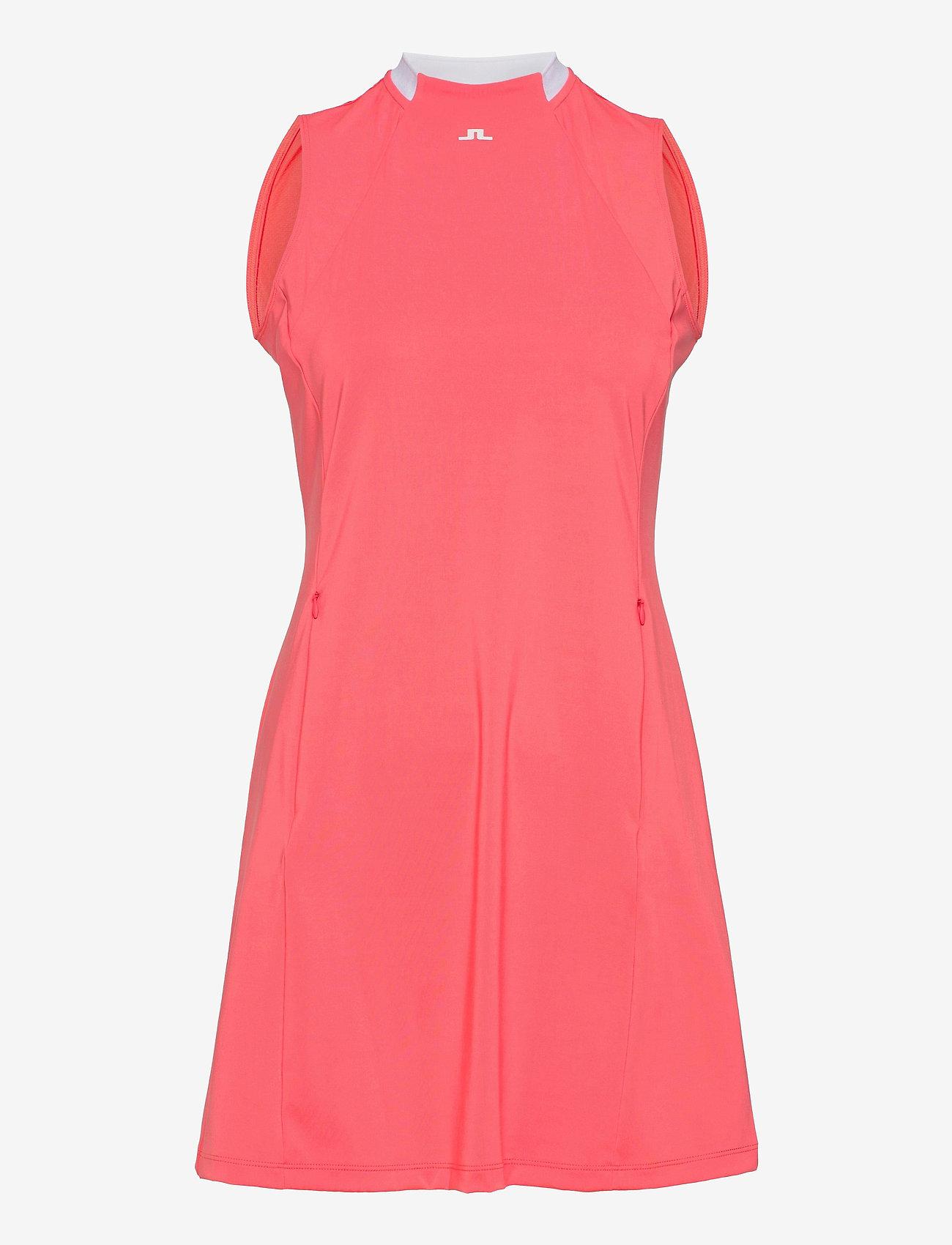 J. Lindeberg Golf - Nena Golf Dress - sports dresses - tropical coral - 1