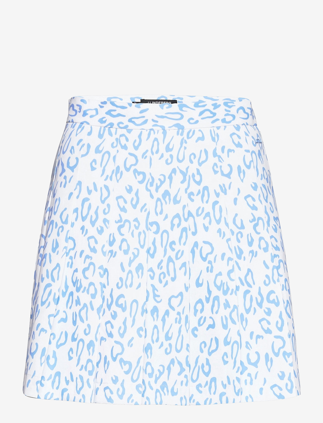 J. Lindeberg Golf - Adina Printed Golf Skirt - sports skirts - animal blue white - 1
