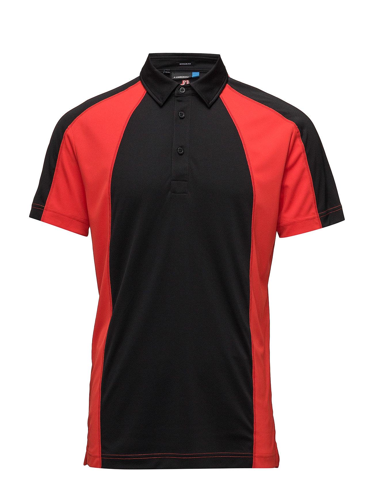 J. Lindeberg Golf M Doglas Reg TX Jersey - BLACK