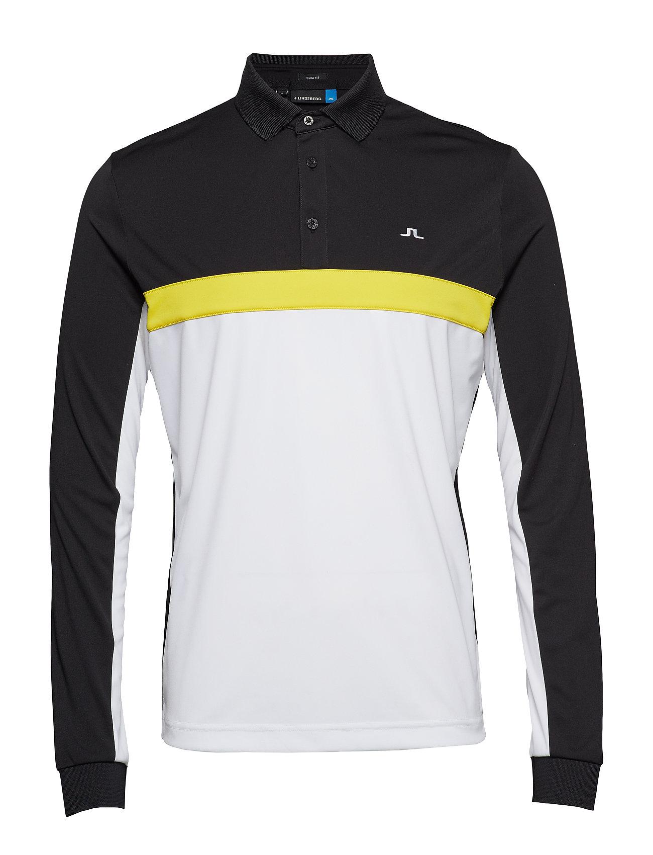 J. Lindeberg Golf Ethan Slim Fit-TX Jersey - BLACK