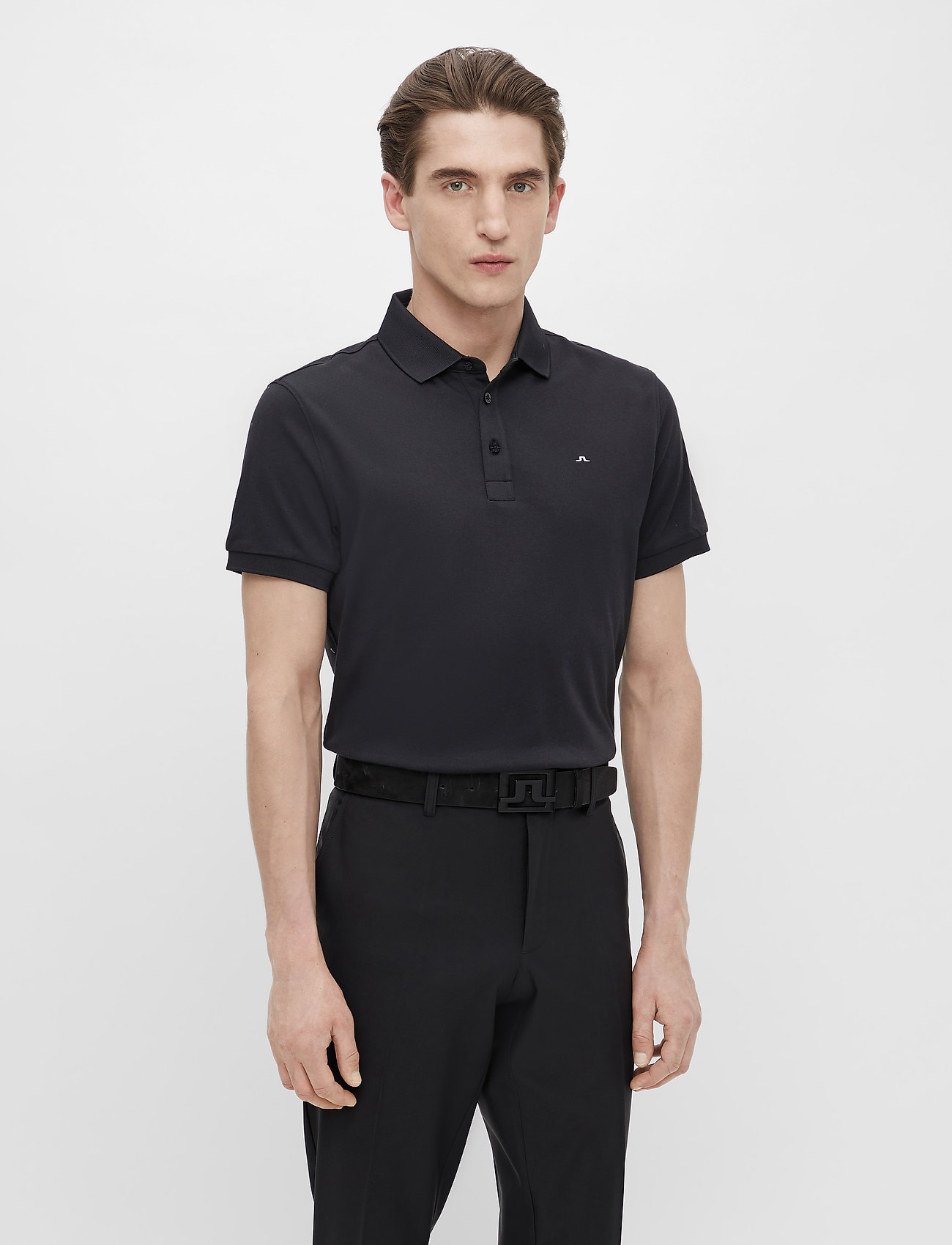 J. Lindeberg Golf - Stan Regular Fit Golf Polo - kurzärmelig - black - 0