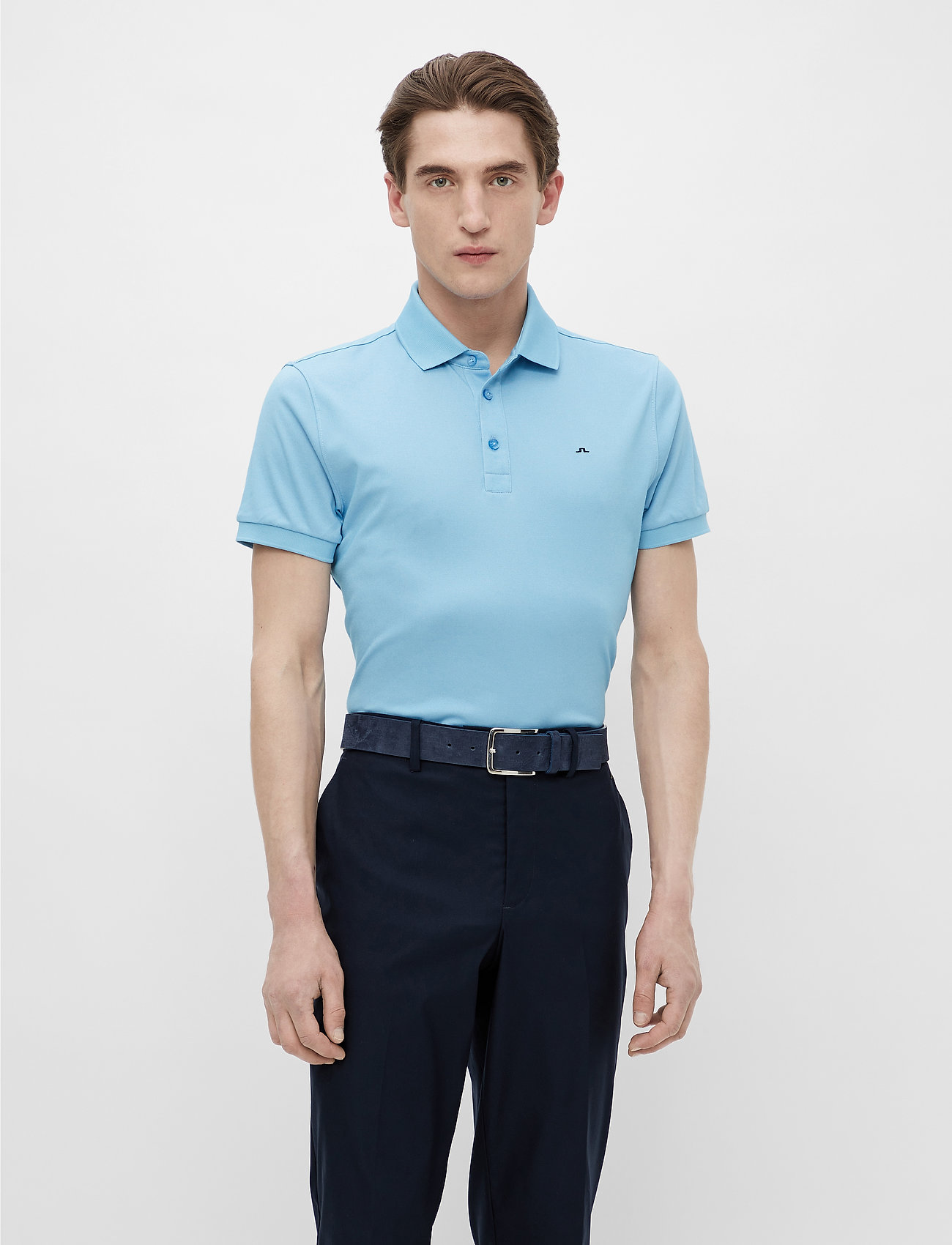J. Lindeberg Golf - Stan Regular Fit Golf Polo - kurzärmelig - ocean blue melange - 0