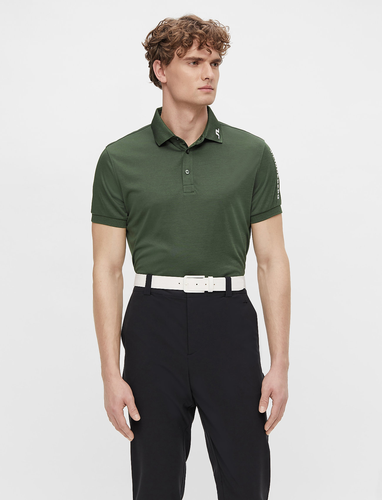 J. Lindeberg Golf - Tour Tech Slim Fit Golf Polo - kurzärmelig - thyme green melange - 0