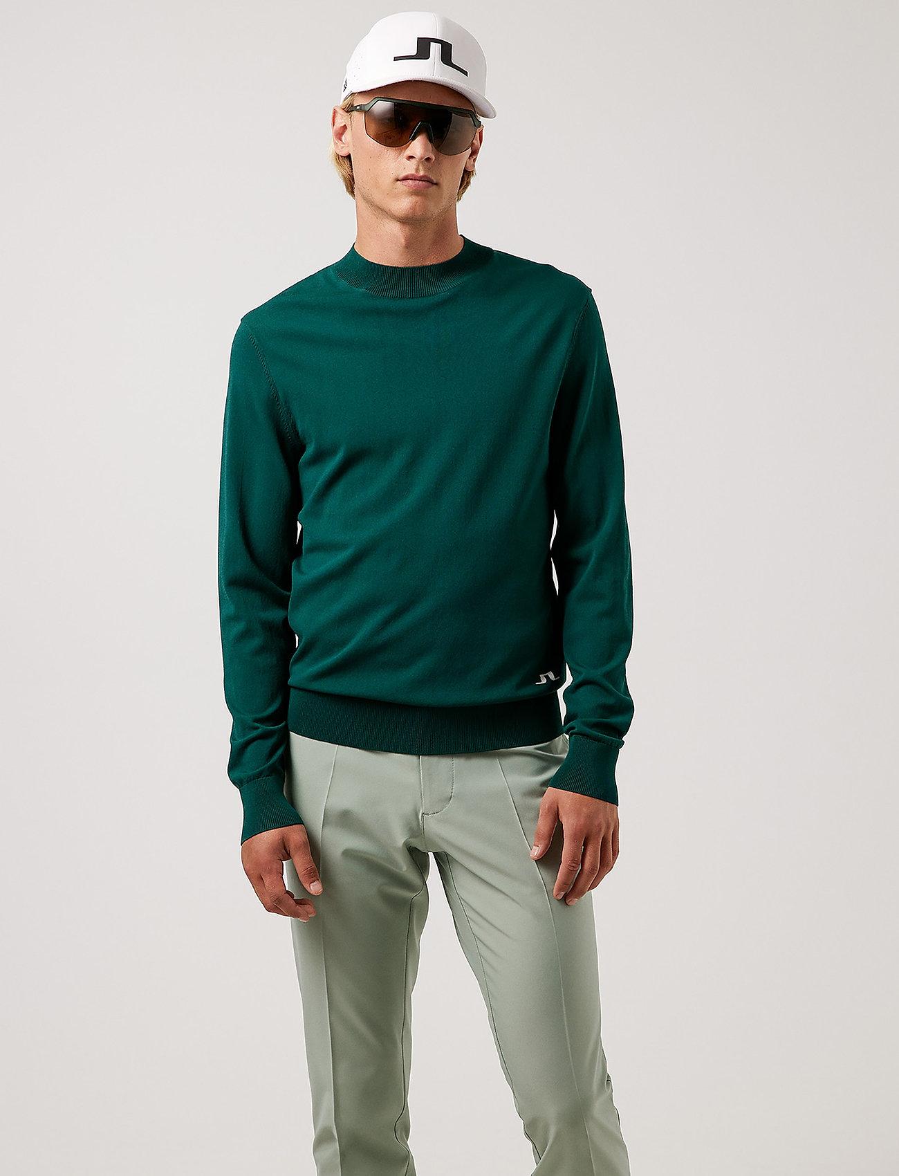 J. Lindeberg Golf - Lawrence Golf Sweater - rund hals - treeline green - 0