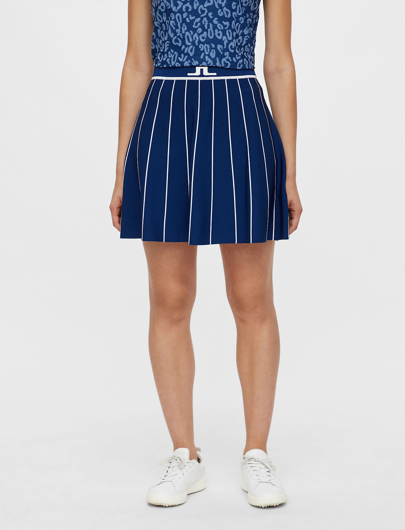J. Lindeberg Golf - Bay Knitted Golf Skirt - sports skirts - midnight blue - 0