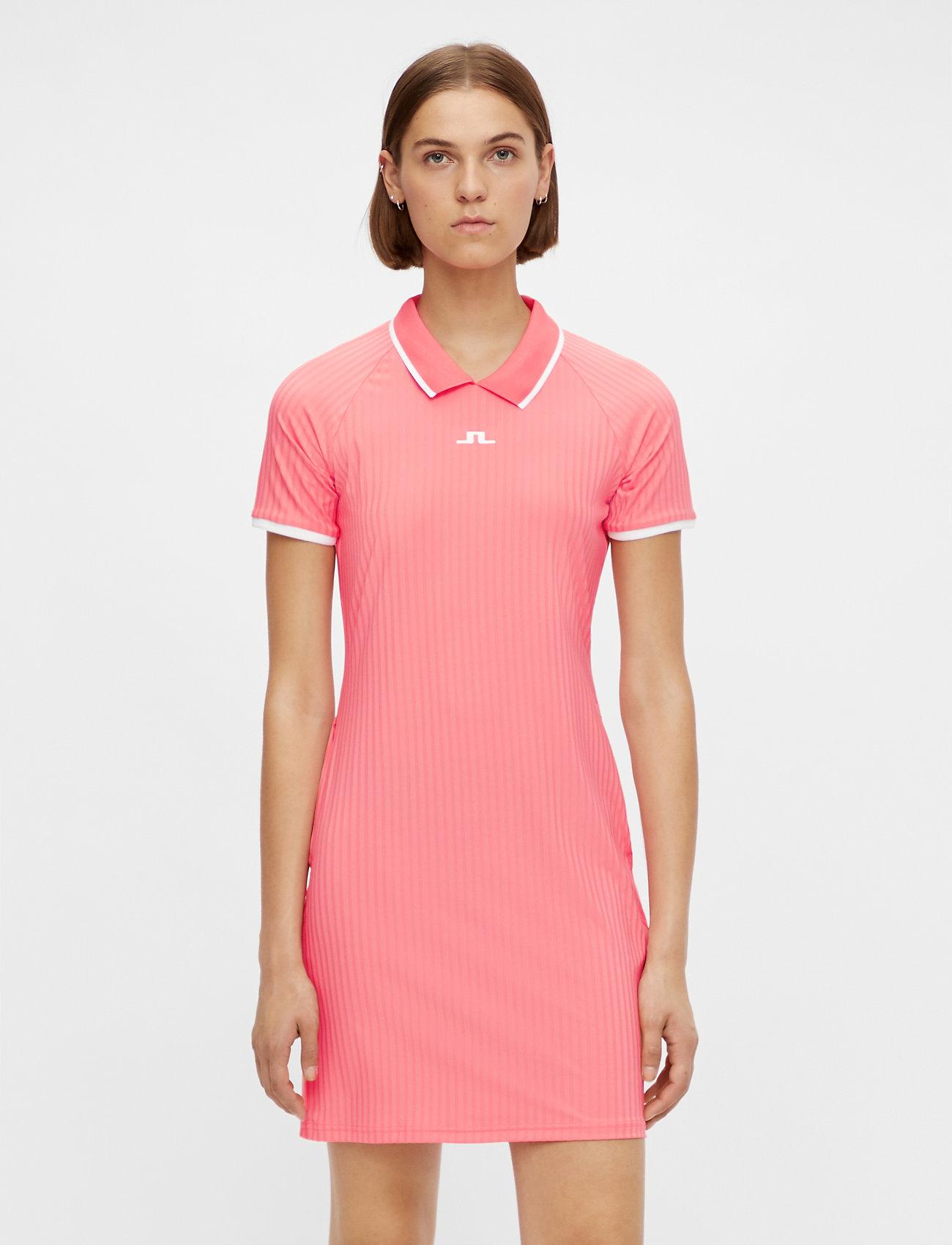 J. Lindeberg Golf - April Golf Dress - t-shirt dresses - tropical coral - 0