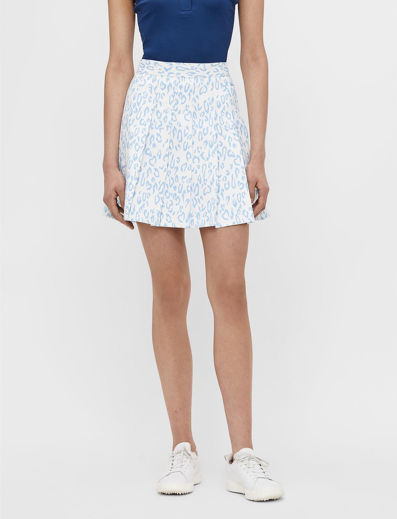 J. Lindeberg Golf - Adina Printed Golf Skirt - sports skirts - animal blue white - 0