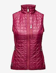 J. Lindeberg Golf - W Bona Hybrid Vest Pertex Q - golfjakker - dk pink/purple - 0