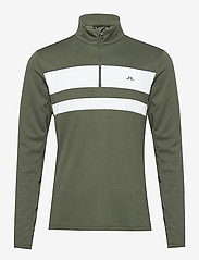 J. Lindeberg Golf - Bran Golf Mid Layer - fleece - thyme green melange - 1