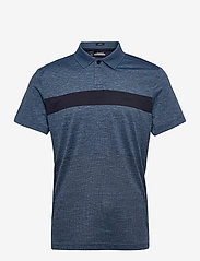 J. Lindeberg Golf - Jay Slim Fit Golf Polo - kurzärmelig - navy melange - 1
