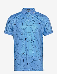 J. Lindeberg Golf - Tour Tech Reg Fit Print Polo - kurzärmelig - slit ocean blue - 1