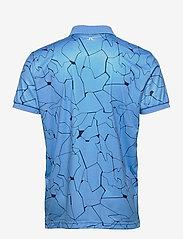 J. Lindeberg Golf - Tour Tech Reg Fit Print Polo - kurzärmelig - slit ocean blue - 2