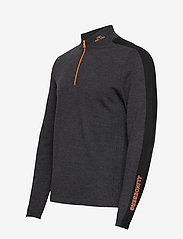 J. Lindeberg Golf - Zam Zipped Golf Sweater - half zip - black melange - 3