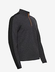 J. Lindeberg Golf - Zam Zipped Golf Sweater - half zip - black melange - 4