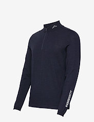 J. Lindeberg Golf - Zam Zipped Golf Sweater - half zip - navy melange - 2