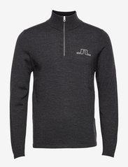 J. Lindeberg Golf - Max Zipped Golf Sweater - half zip - black melange - 1