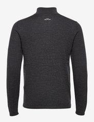 J. Lindeberg Golf - Max Zipped Golf Sweater - half zip - black melange - 2