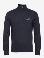 Max Zipped Golf Sweater - JL NAVY MELANGE