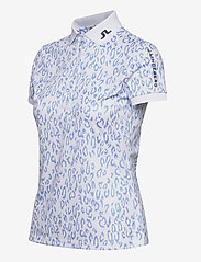 J. Lindeberg Golf - Tour Tech Print Golf Polo - polos - animal blue white - 3