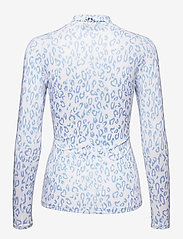 J. Lindeberg Golf - sa Print Soft Compression Top - topjes met lange mouwen - animal blue white - 2