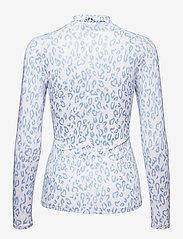 J. Lindeberg Golf - sa Print Soft Compression Top - longsleeved tops - animal blue white - 2
