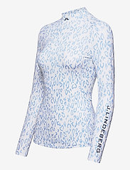 J. Lindeberg Golf - sa Print Soft Compression Top - longsleeved tops - animal blue white - 3
