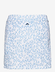 J. Lindeberg Golf - Amelie Mid Golf Skirt Print - sports skirts - animal blue white - 2