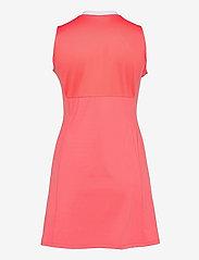 J. Lindeberg Golf - Nena Golf Dress - sports dresses - tropical coral - 2