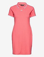 J. Lindeberg Golf - April Golf Dress - t-shirt dresses - tropical coral - 1