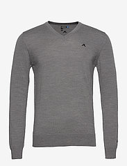 J. Lindeberg Golf - M Lymann Tour Merino - basic-strickmode - grey melange - 1