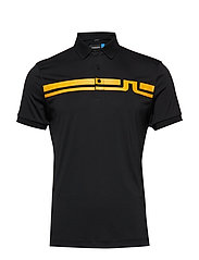 M EDDY POLO SLIM FIT TX JERSEY - BLACK