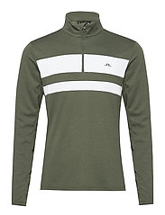 Bran Golf Mid Layer - THYME GREEN MELANGE