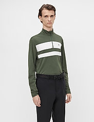 J. Lindeberg Golf - Bran Golf Mid Layer - fleece - thyme green melange - 0