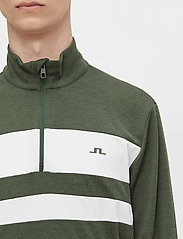 J. Lindeberg Golf - Bran Golf Mid Layer - fleece - thyme green melange - 5