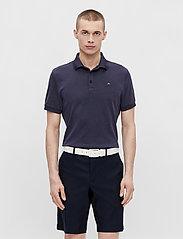 J. Lindeberg Golf - Stan Regular Fit Golf Polo - kurzärmelig - navy melange - 0
