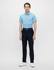 J. Lindeberg Golf - Stan Regular Fit Golf Polo - kurzärmelig - ocean blue melange - 4