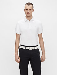 J. Lindeberg Golf - Stan Regular Fit Golf Polo - kurzärmelig - white - 0