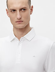 J. Lindeberg Golf - Stan Regular Fit Golf Polo - kurzärmelig - white - 5