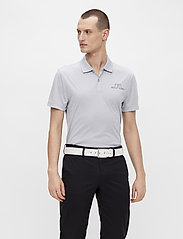 J. Lindeberg Golf - Bridge Regular Fit Golf Polo - kurzärmelig - stone grey melange - 0