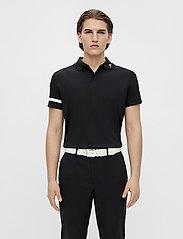 J. Lindeberg Golf - Heath Regular Fit Golf Polo - kurzärmelig - black - 0