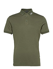 Tour Tech Slim Fit Golf Polo - THYME GREEN MELANGE