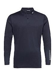 Jakob Slim Fit LS Golf Polo - JL NAVY
