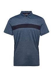 Jay Slim Fit Golf Polo - NAVY MELANGE