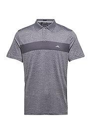 Jay Slim Fit Golf Polo - STONE GREY MELANGE