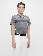 J. Lindeberg Golf - Jay Slim Fit Golf Polo - kurzärmelig - stone grey melange - 0