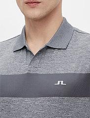 J. Lindeberg Golf - Jay Slim Fit Golf Polo - kurzärmelig - stone grey melange - 6
