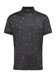 Glen Regular Fit Golf Polo - JL BRIDGE DARK GREY