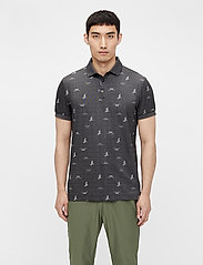 J. Lindeberg Golf - Glen Regular Fit Golf Polo - kurzärmelig - jl bridge dark grey - 0