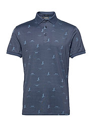 Glen Regular Fit Golf Polo - JL BRIDGE OCEAN BLUE